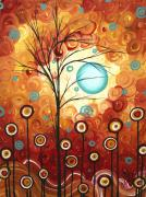 Upbeat Prints - Surrounded by Love by MADART Print by Megan Duncanson