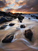 Seascape Metal Prints - Surrounded by the Tides Metal Print by Mike  Dawson