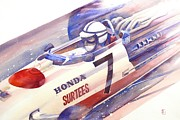 Automobilia Paintings - Surtees by Robert Hooper