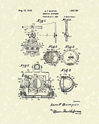 Machinery Drawings Framed Prints - Surveying Instrument 1933 Patent Art Framed Print by Prior Art Design