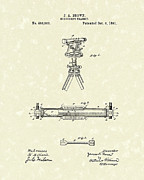 Brown Drawings - Surveyors Transit 1891 Patent Art by Prior Art Design