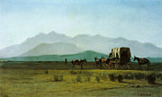 Famous Artists - Surveyors Wagon in the Rockies by Albert Bierstadt
