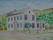 Reformer Painting Originals - Susan B. Anthony Birthplace by Sally Rice