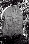 Travel Pyrography - Susan B. Anthony Grave Marker BW by Linda Phelps
