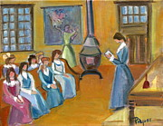 Education Paintings - Susan B. Anthony Teaching in Canajoharie by Betty Pieper