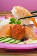 Featured Art - Sushi Platter With Shrimp Nigiri by Stock Foundry