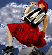 Douglas Manger Art - Susie Davis of San Franciscos Those Darn Accordions by Douglas Manger