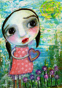 Shirley Mixed Media - Susie loves the Sunshine by Shirley Dawson