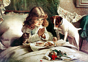 Kitty Cat Prints - Suspense Print by Charles Burton Barber