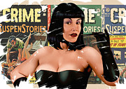Pulp Mixed Media Acrylic Prints - Suspenstories Acrylic Print by Udo Linke