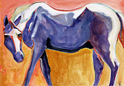 Horse Posters Paintings - Suspicious by Pat Saunders-White