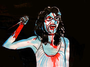 Splatter Drawings - Suspiria by Christopher  Chouinard