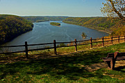 Pinnacle Overlook Prints - Susquehanna Overlook Print by Suzanne Stout