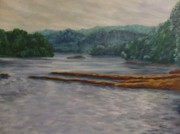 Joann Renner Art - Susquehanna River at Saginaw PA by Joann Renner