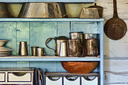 Metal Shelves Framed Prints - Sutler Store Shelves and Wares Framed Print by Nikolyn McDonald