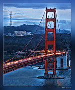 Blake Richards Framed Prints - Sutro Tower And Golden Gate Bridge Framed Print by Blake Richards