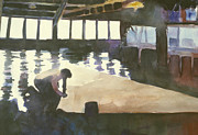 Sausalito Paintings - Sutter sail loft by Hil Hawken