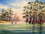Kayaking Art Paintings - Suwannee River by Bill Holkham