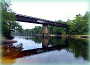 Lafayette Digital Art Prints - Suwannee River Bridges Print by Sheri McLeroy