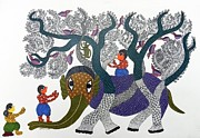Gond Art Paintings - Sv 107 by Subhash Vyam