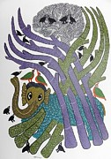 Gond Art Paintings - Sv 108 by Subhash Vyam