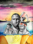 Frank Ocean Drawings - Swallow The Pill by Lance Rhodes