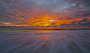 Creation Prints - Swamis Beach Sunset Print by Freddy Winter