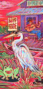 Angel Blues  Painting Prints - Swamp Boogie Print by Robert Ponzio