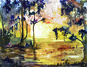 Ginette Callaway - Swamp Lights Okefenokee Georgia by Ginette
