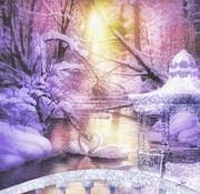 Swan Lake Print by Mo T