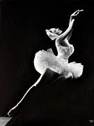 Monochrome Pastels - Swan Lake Movement by Darren Baker