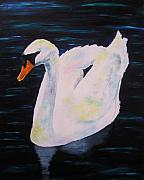 Simpson Paintings - Swan of St. Neots by Joanne Simpson