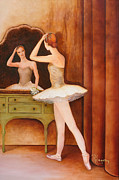 Dressing Room Painting Prints - Swan Song Print by Rachel Engelking