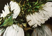 White Tapestries - Textiles Prints - Swan Song Print by Tina Gleave
