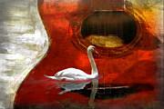 Swan Song Print by Wendy Mogul