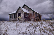 Haunted Schools Photo Prints - Swan Valley School  Print by Dave Bower