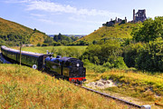 Castle Ruin Prints - Swanage steam railway Print by Joana Kruse