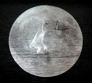 George Leask - Swans on the moon