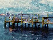 Swansboro Dock 1 Print by Lanjee Chee