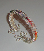 Featured Jewelry - Swarovski Crystal Sterling Silver Bracelet by Robin Copper