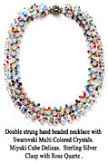 Sterling Silver Art - Swarovski Multi Colored Crystals by Jennie Breeze