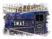 Police Van Framed Prints - Swat Framed Print by Paul and Fe Photography Messenger
