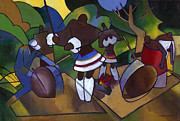 Drum Painting Framed Prints - Swazi Rhythm Framed Print by Douglas Simonson