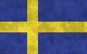 Sweden  Digital Art Posters - Sweden Flag Poster by World Art Prints And Designs