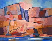 Swedish Cliffs Print by Lutz Baar