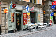 Stockholm Photos - Swedish Coffee Shop by Sophie Vigneault