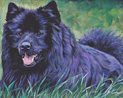 Dog Art Paintings - Swedish Lapphund by Lee Ann Shepard