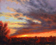 Clouds Sunset Painting Prints - Sweep of Cloud Print by Timothy Jones