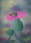 Bee Pastels Posters - Sweet and Prickly Poster by Lynn Quinn