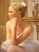 Warm Colors Pastels - Sweet ballerina by Cecile Houel